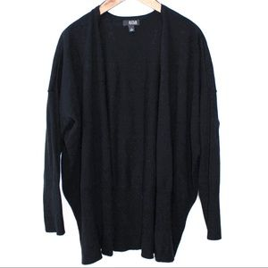a.n.a Black Dolman Open Front Cardigan Size Large